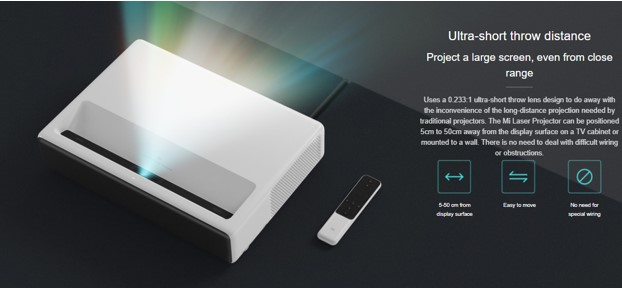 Ultra Short Throw Distance Projector